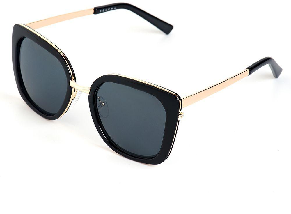 Очки солнцезащитные женские Selena, цвет: золотистый, черный. 80036351BM8434-58AEСолнцезащитные женские очки Selena выполнены из качественного материала. Линзы очков обеспечивают 100% защиту от ультрафиолетовых лучей.Такие очки защитят глаза от ультрафиолетовых лучей, подчеркнут вашу индивидуальность и сделают ваш образ завершенным.Размер (ширина линзы*ширина моста-длина дужки) 54*21-138.