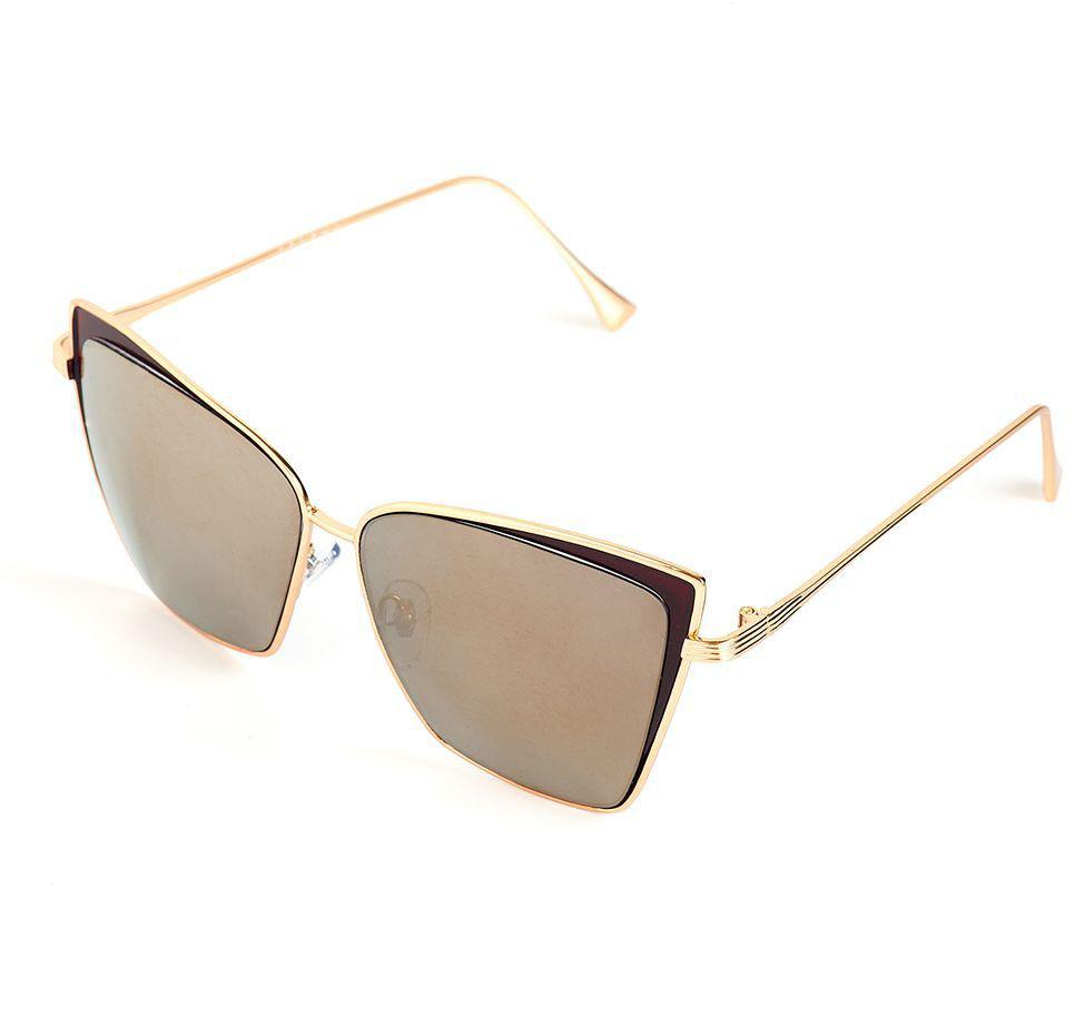 Очки солнцезащитные женские Selena, цвет: золотистый, коричневый. 80036391INT-06501Солнцезащитные женские очки Selena выполнены из качественного материала. Линзы очков обеспечивают 100% защиту от ультрафиолетовых лучей.Такие очки защитят глаза от ультрафиолетовых лучей, подчеркнут вашу индивидуальность и сделают ваш образ завершенным.Размер (ширина линзы*ширина моста-длина дужки) 53*17-146.