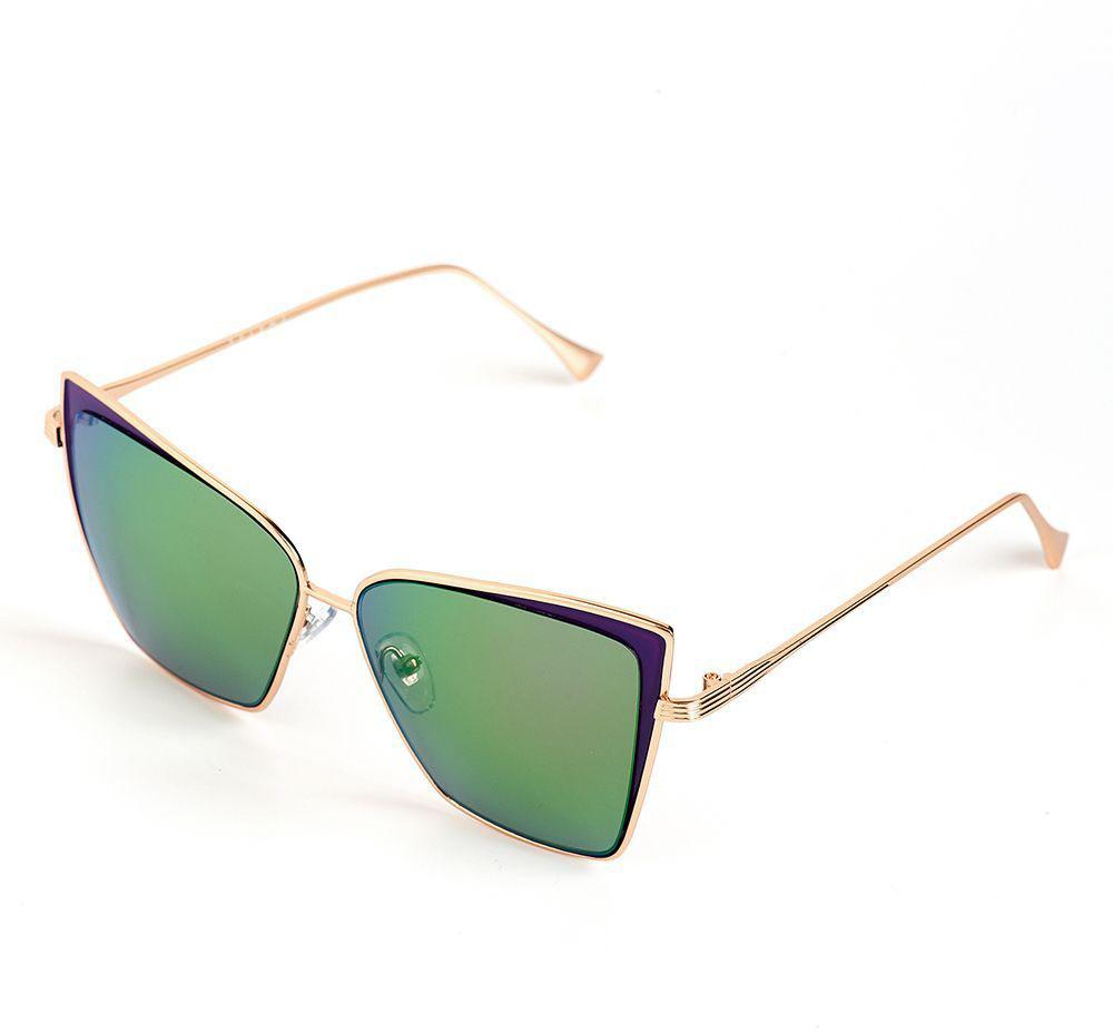 Очки солнцезащитные женские Selena, цвет: зеленый, золотистый, фиолетовый. 80036411EQW-M710DB-1A1Солнцезащитные женские очки Selena выполнены из качественного материала. Линзы очков обеспечивают 100% защиту от ультрафиолетовых лучей.Такие очки защитят глаза от ультрафиолетовых лучей, подчеркнут вашу индивидуальность и сделают ваш образ завершенным.Размер (ширина линзы*ширина моста-длина дужки) 53*17-146.
