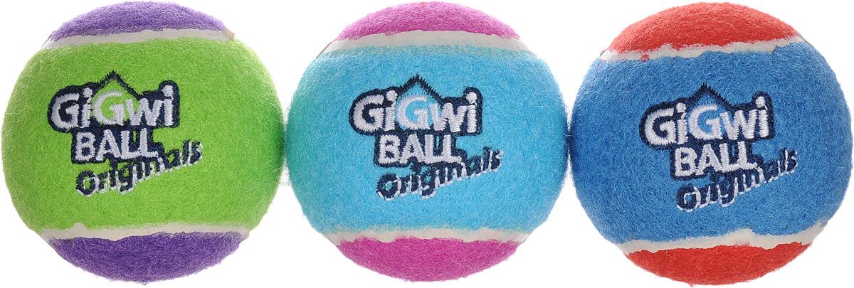 Игрушка для собак GiGwi Мячи, с пищалкой, диаметр 6,3 см, 3 шт75338Игрушка для собак GiGwi Мячи изготовлена из прочной цветной резины с ворсистой поверхностью в виде теннисного мяча. Предназначена для игр с собакой любого возраста. Внутри мяча расположена пищалка. Такая игрушка привлечет внимание вашего любимца и не оставит его равнодушным. Диаметр: 6,3 см.