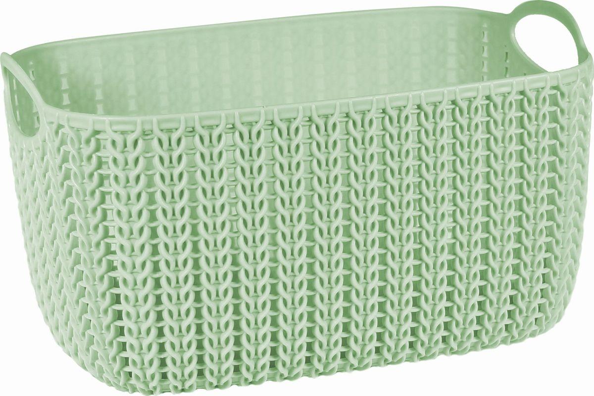 Корзинка Idea Вязание, цвет: фисташковый, 4 л391602Универсальная корзинка Idea изготовлена из высококачественного пластика с перфорированными стенками и сплошным дном. Такая корзинка непременно пригодится в быту, в ней можно хранить кухонные принадлежности, аксессуары для ванной и другие бытовые предметы, диски и канцелярию.Размер корзинки: 13 х 17 х 17 см. Объем корзинки: 4 л.