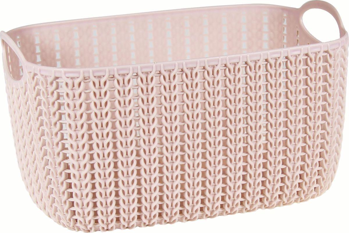 Корзинка Idea Вязание, цвет: чайная роза, 7 лМ 2381_чайная розаУниверсальная корзинка Idea изготовлена из высококачественного пластика с перфорированными стенками и сплошным дном. Такая корзинка непременно пригодится в быту, в ней можно хранить кухонные принадлежности, аксессуары для ванной и другие бытовые предметы, диски и канцелярию.Размер корзинки: 28,5 х 20 см х 15,5 см. Объем корзинки: 7 л.