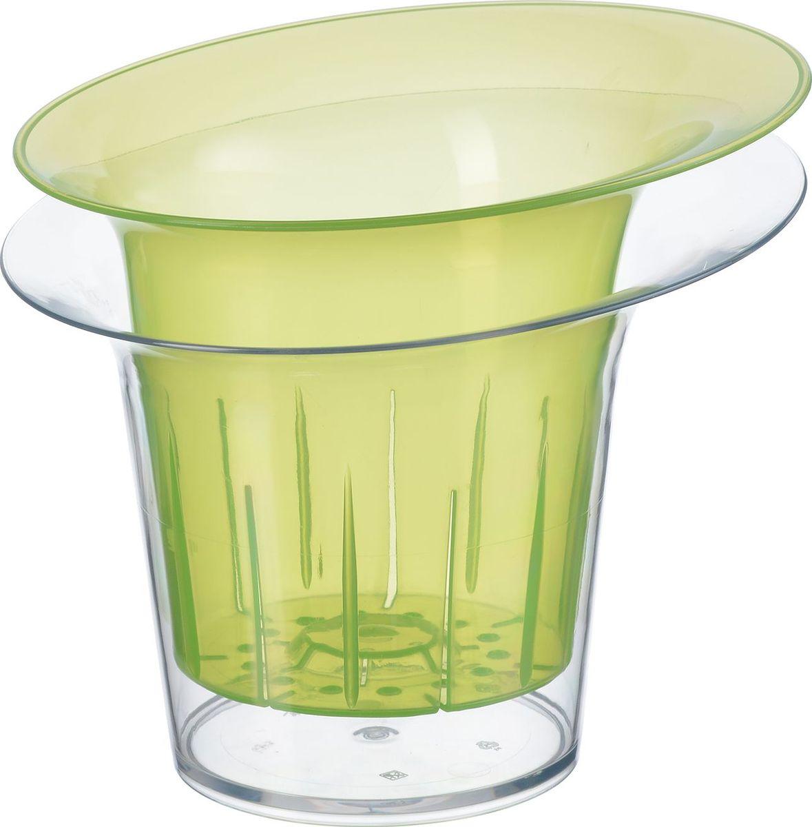 Кашпо для орхидеи Idea Адель, цвет: зеленый прозрачный, 1 л. М 3104531-402Кашпо для орхидеи Idea Адель изготовлено из прочного пластика. Изделие прекрасно подходит для выращивания растений и цветов в домашних условиях. Стильный современный дизайн органично впишется в интерьер помещения.Диаметр кашпо: 19 см. Высота кашпо: 17 см. Объем кашпо: 1 л.