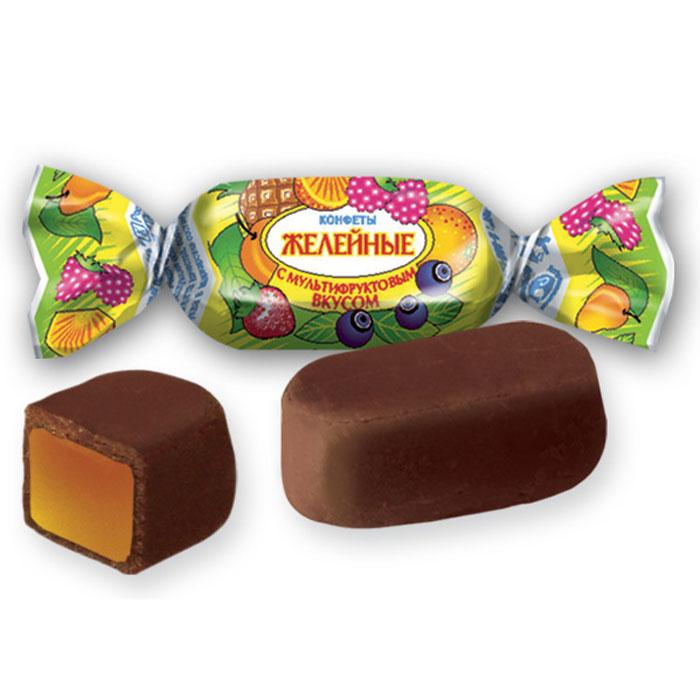 Желейные конфеты с мультифруктовым вкусом, 250 г