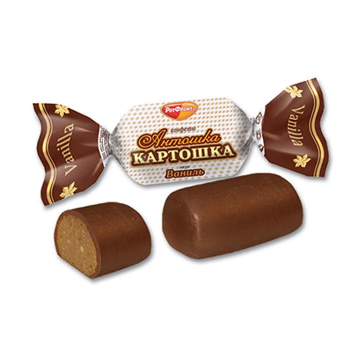 Рот Фронт Антошка картошка конфеты вкус ваниль, 250 гРФ12240Пралиновые конфеты по мотивам пирожного Картошка.