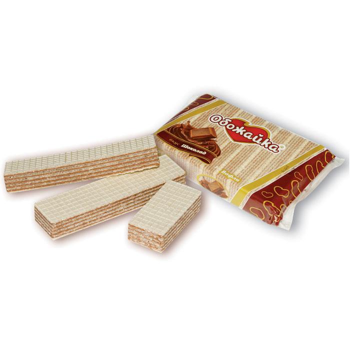 Вафли Обожайка вкус Шоколад, 225 г