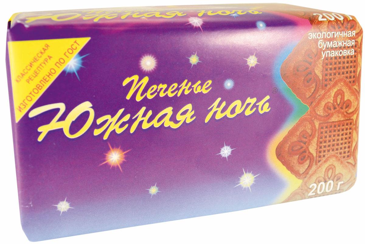 Печенье Южная ночь, 200 г4640000272265Сахарное классическое печенье квадратной формы с шоколадным вкусом, знакомым с детства.