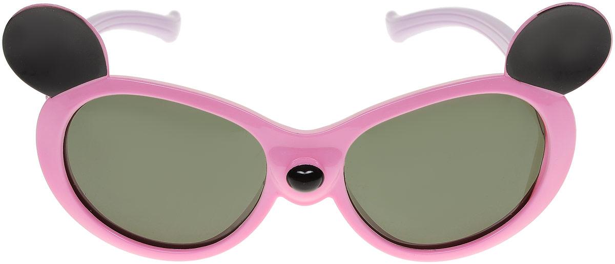Очки солнцезащитные детские Vitacci, цвет: розовый. 13806-11BM8434-58AEСтильные солнцезащитные очки Vitacci выполнены из пластика.Линзы дополнены защитой от ультрафиолетового излучения. Оправа очков легкая, прилегающей формы и обеспечивает максимальный комфорт.Такие очки станут прекрасным и модным аксессуаром и порадуют вашего ребенка.