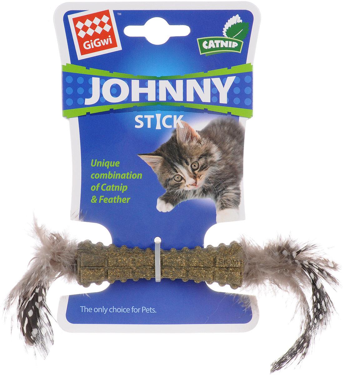 Игрушка для кошек GiGwi Johnny Stick, с кошачьей мятой, длина 26 см5638406Игрушка для кошек GiGwi Johnny Stick изготовлена из спрессованной кошачьей мяты и украшена перьями. Играя с этой забавной игрушкой, маленькие котята развиваются физически, а взрослые кошки и коты поддерживают свой мышечный тонус.Кошачья мята - растение, запах которого делает кошку более игривой и любопытной. С помощью этого средства кошка легче перенесет путешествие на автомобиле, посещение ветеринарного врача, переезд на новую квартиру.Размеры игрушки: 26 х 3 х 3 см.