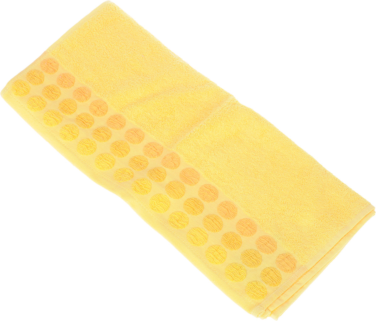 Полотенце Brielle Point, цвет: желтый, 50 х 90 см391602Полотенце Brielle Point выполнено из 100% хлопка. Изделие очень мягкое, оно отлично впитывает влагу, быстро сохнет, сохраняет яркость цвета и не теряет формы даже после многократных стирок. Модель оформлена рисунком.Полотенце Brielle Point очень практично и неприхотливо в уходе. Такое полотенце послужит приятным подарком.