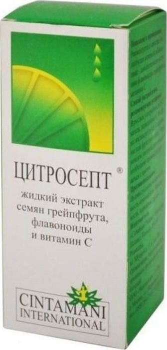 Цитросепт флакон 20 мл37834Цитросепт грейпфрутовый жидкий - биологически активная добавка. Не является лекарством. Цитросепт — биофлавоноиды стандартизированного 33% экстракта семян грейпфрута. Противогрибковое (фунгицидное и фунгистатическое), антибактериальное, противовирусное действие. Сфера применения: ИммунологияИммуномодулирующее