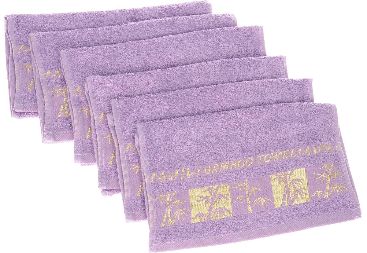Набор полотенец Brielle Bamboo Gold, цвет: лиловый, 30 х 50 см, 6 шт68/5/1Набор Brielle Bamboo Gold состоит из шести полотенец, выполненных на 70% из бамбука и на 30% из хлопка. Изделия отлично впитывают влагу, быстро сохнут, сохраняют яркость цвета и не теряют формы даже после многократных стирок. Полотенца Brielle Bamboo Gold очень практичны и неприхотливы в уходе. Такой набор послужит приятным подарком.