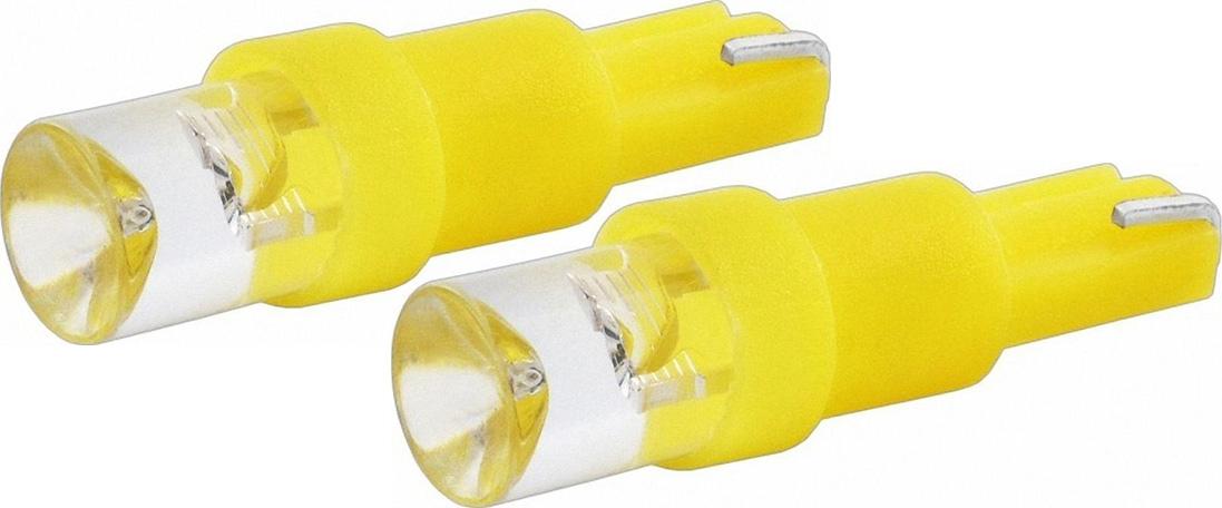 Автолампа светодиодная Jpower, цвет: желтый, 2 шт. T5-1LEDT5-1LED желтый (2 шт.)Светодиод J-POWER T5 вогнутая подсветка желтая, используется для подсветки приборной панели.