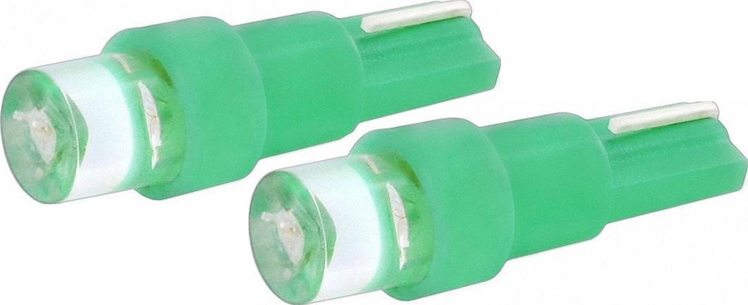 Автолампа светодиодная Jpower, цвет: зеленый, 2 шт. T5-1LED10503Светодиод J-POWER T5 вогнутая подсветка зеленый, используется для подсветки приборной панели.