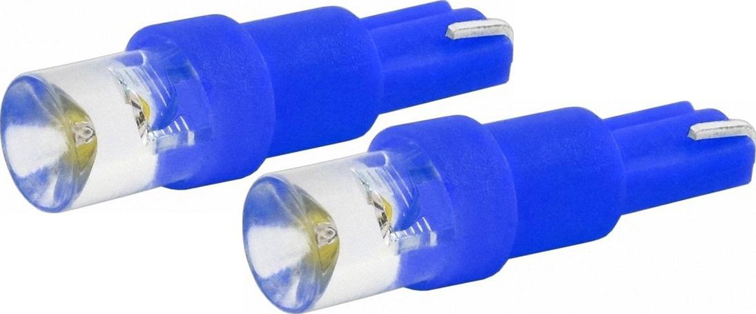 Автолампа светодиодная Jpower, цвет: синий, 2 шт. T5-1LED10503Светодиод J-POWER T5 вогнутая подсветка синий, используется для подсветки приборной панели.