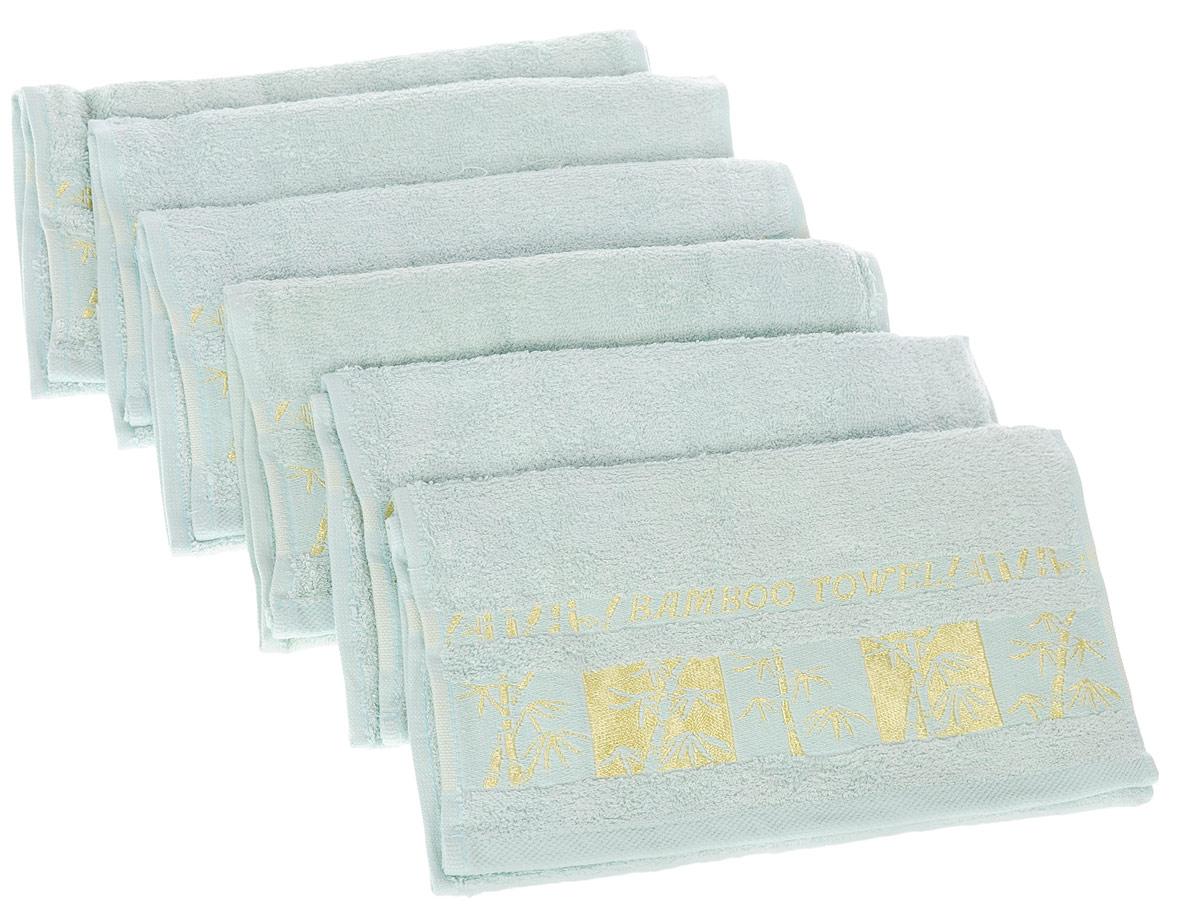 Набор полотенец Brielle Bamboo Gold, цвет: мятный, 30 х 50 см, 6 шт68/5/3Набор Brielle Bamboo Gold состоит из шести полотенец, выполненных на 70% из бамбука и на 30% из хлопка. Изделия отлично впитывают влагу, быстро сохнут, сохраняют яркость цвета и не теряют формы даже после многократных стирок. Полотенца Brielle Bamboo Gold очень практичны и неприхотливы в уходе. Такой набор послужит приятным подарком.
