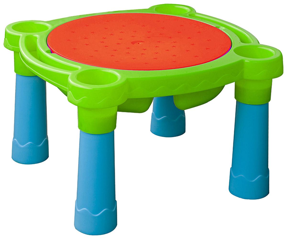 Marian Plast Стол детский Песок Вода цвет зеленый красный синий