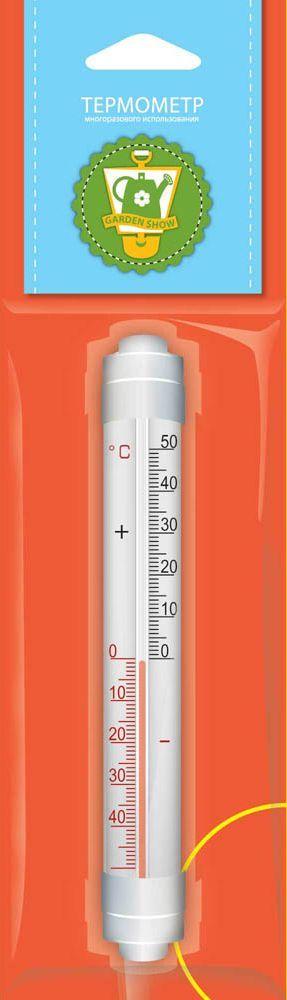 Термометр оконный Garden Show, с креплением, 3 х 2,2 х 20 смC0038550Термометр оконный Garden Show предназначен для измерения температуры воздуха на улице. Корпус отличается прочностью и устойчивостью к любым погодным условиям. Изделие имеет широкий рабочий диапазон температур от -50 до +50°С со шкалой деления в 10°С. Цена деления составляет 1°С. Изделие снабжено специальными креплениями.