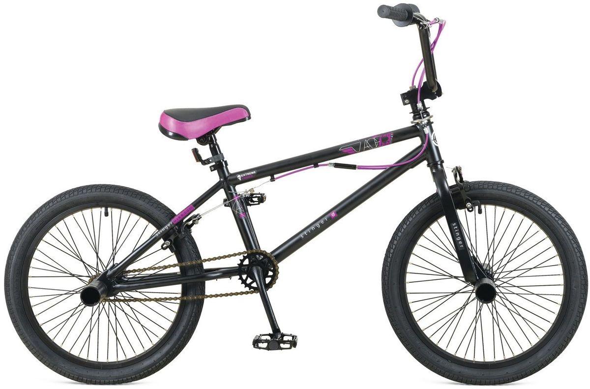 Велосипед Stinger BMX Ace, цвет: черный, 20 велосипед stinger х52647 bmx ace black matt