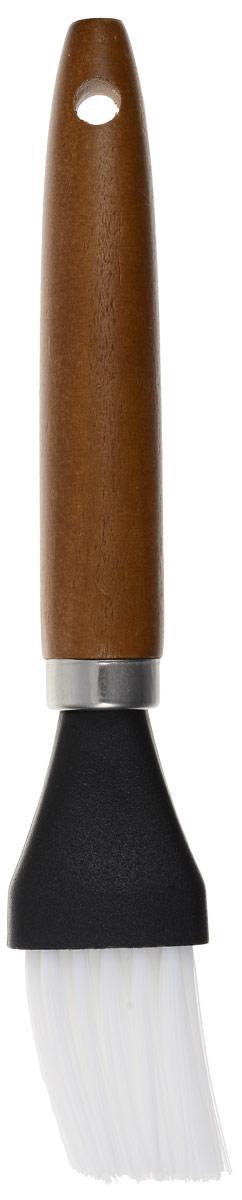 Кисть кондитерская Atlantis, цвет: коричневый, черный, белый, длина 19 см631016Кондитерская кисть Atlantis станет вашим незаменимым помощником на кухне. Рабочая часть кисточки выполнена из нейлона, ручка изготовлена из дерева. Изделие оснащено отверстием для подвешивания. Кисть Atlantis- практичный и необходимый подарок любой хозяйке.Можно мыть в посудомоечной машине.Длина кисти: 19 см.Размер рабочей части: 4 х 3 см.