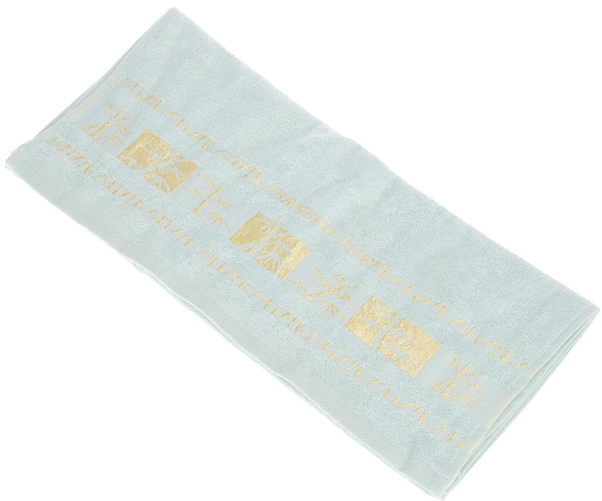 Полотенце Brielle Bamboo Gold, цвет: мятный, 50 х 90 смCLP446Полотенце Brielle Bamboo Gold выполнено из бамбука с содержанием хлопка. Изделие очень мягкое, оно отлично впитывает влагу, быстро сохнет, сохраняет яркость цвета и не теряет формы даже после многократных стирок. Одна из боковых сторон оформлена оригинальным рисунком и надписью. Полотенце Brielle Bamboo Gold очень практично и неприхотливо в уходе. Такое полотенце послужит приятным подарком.