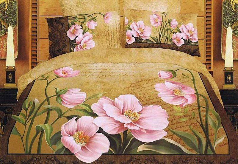 Комплект белья МарТекс Розовый Мак, 1,5-спальный, наволочки 50х7001-0036-1Комплект постельного белья МарТекс Розовый Мак, выполненный из сатина (100% хлопок), состоит из пододеяльника, простыни и двух наволочек. Изделия оформлены оригинальным принтом. Сатин - прочная, легкая и мягкая на ощупь ткань. Белье из него нелиняет при стирке и легко гладится. Эта ткань традиционно считаетсяодной из лучших для изготовления постельного белья.Такой комплект подойдет для любого стилевого и цветового решения интерьера, а также создаст в доме уют. Приобретая комплект постельного белья МарТекс, вы можете быть уверенны в том, что покупкадоставит вам и вашим близким удовольствие и подарит максимальный комфорт.