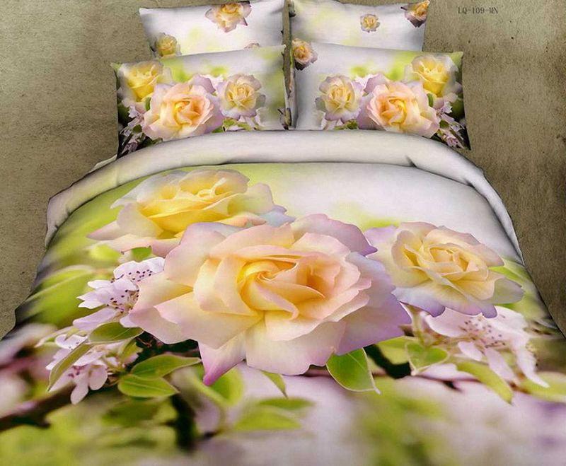 Комплект белья МарТекс Роза, 1,5-спальный, наволочки 50х70. 01-0084-1391602Комплект постельного белья МарТекс Роза, выполненный из сатина (100% хлопок), состоит из пододеяльника, простыни и двух наволочек. Изделия оформлены оригинальным принтом. Сатин - прочная, легкая и мягкая на ощупь ткань. Белье из него нелиняет при стирке и легко гладится. Эта ткань традиционно считаетсяодной из лучших для изготовления постельного белья.Такой комплект подойдет для любого стилевого и цветового решения интерьера, а также создаст в доме уют. Приобретая комплект постельного белья МарТекс, вы можете быть уверенны в том, что покупкадоставит вам и вашим близким удовольствие и подарит максимальный комфорт.