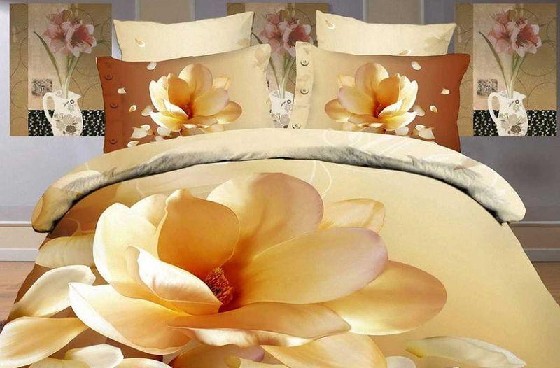 Комплект белья МарТекс Цветок, 1,5-спальный, наволочки 50х7001-0131-1Комплект постельного белья МарТекс Цветок, выполненный из сатина (100% хлопок), состоит из пододеяльника, простыни и двух наволочек. Изделия оформлены оригинальным принтом. Сатин - прочная, легкая и мягкая на ощупь ткань. Белье из него нелиняет при стирке и легко гладится. Эта ткань традиционно считаетсяодной из лучших для изготовления постельного белья.Такой комплект подойдет для любого стилевого и цветового решения интерьера, а также создаст в доме уют. Приобретая комплект постельного белья МарТекс, вы можете быть уверенны в том, что покупкадоставит вам и вашим близким удовольствие и подарит максимальный комфорт.
