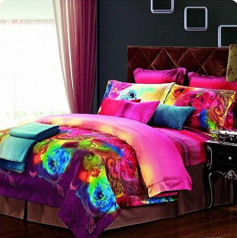 Комплект белья МарТекс Акварель, 2-спальный, наволочки 70х7001-0231-2Комплект постельного белья МарТекс Акварель, выполненный из сатина (100%хлопок), состоит из пододеяльника, простынии двух наволочек. Изделия оформлены изящным рисунком. Пододеяльник на молнии.Сатин - прочная, легкая и мягкая на ощупь ткань. Белье из него нелиняет при стирке и легко гладится. Эта ткань традиционно считаетсяодной из лучших для изготовления постельного белья. Лаконичность рисунка, контрастный колорит, элегантность иблагородство - вот основные отличия белья Акварель.