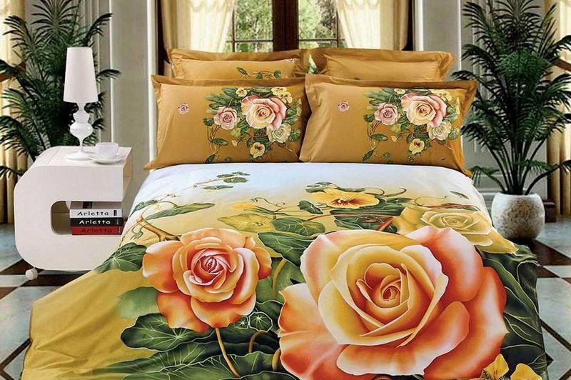 Комплект белья МарТекс Чайная Роза, 1,5-спальный, наволочки 50х70S03301004Комплект постельного белья МарТекс Чайная Роза, выполненный из сатина (100% хлопок), состоит из пододеяльника, простыни и двух наволочек. Изделия оформлены оригинальным принтом. Сатин - прочная, легкая и мягкая на ощупь ткань. Белье из него нелиняет при стирке и легко гладится. Эта ткань традиционно считаетсяодной из лучших для изготовления постельного белья.Такой комплект подойдет для любого стилевого и цветового решения интерьера, а также создаст в доме уют. Приобретая комплект постельного белья МарТекс, вы можете быть уверенны в том, что покупкадоставит вам и вашим близким удовольствие и подарит максимальный комфорт.