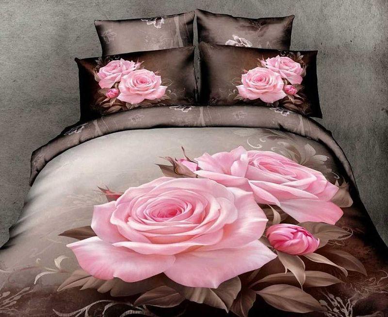 Комплект белья МарТекс Роза, 1,5-спальный, наволочки 50х70. 01-0489-184206Комплект постельного белья МарТекс Роза, выполненный из сатина (100% хлопок), состоит из пододеяльника, простыни и двух наволочек. Изделия оформлены оригинальным принтом. Сатин - прочная, легкая и мягкая на ощупь ткань. Белье из него нелиняет при стирке и легко гладится. Эта ткань традиционно считаетсяодной из лучших для изготовления постельного белья.Такой комплект подойдет для любого стилевого и цветового решения интерьера, а также создаст в доме уют. Приобретая комплект постельного белья МарТекс, вы можете быть уверенны в том, что покупкадоставит вам и вашим близким удовольствие и подарит максимальный комфорт.