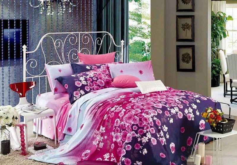 Комплект белья МарТекс Лаванда, 1,5-спальный, наволочки 50х7001-0518-1Комплект постельного белья МарТекс Лаванда, выполненный из сатина (100% хлопок), состоит из пододеяльника, простыни и двух наволочек. Изделия оформлены оригинальным принтом. Сатин - прочная, легкая и мягкая на ощупь ткань. Белье из него нелиняет при стирке и легко гладится. Эта ткань традиционно считаетсяодной из лучших для изготовления постельного белья.Такой комплект подойдет для любого стилевого и цветового решения интерьера, а также создаст в доме уют. Приобретая комплект постельного белья МарТекс, вы можете быть уверенны в том, что покупкадоставит вам и вашим близким удовольствие и подарит максимальный комфорт.