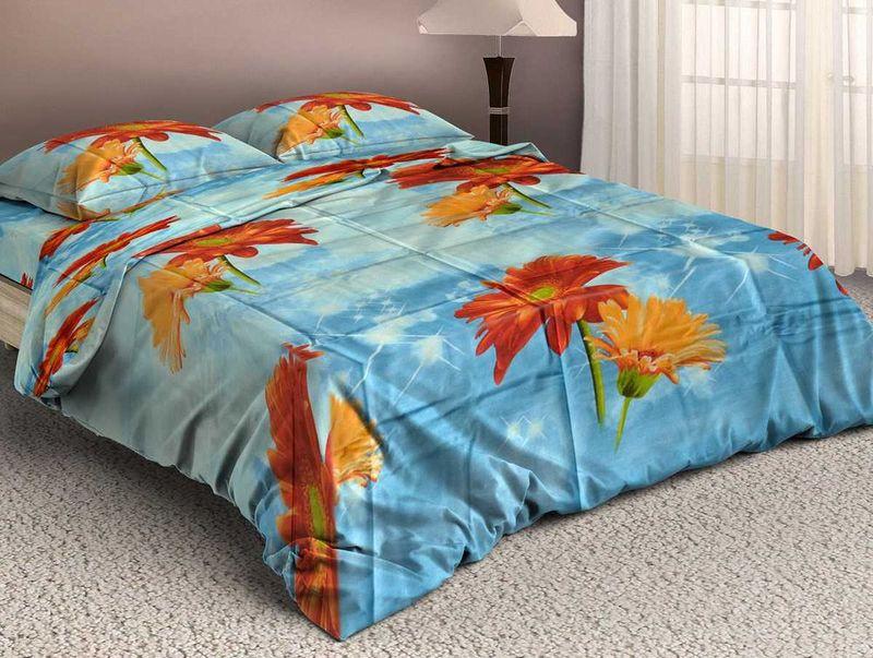 Комплект белья МарТекс, 1,5-спальный, наволочки 50х70. 01-0685-1SVC-300Комплект постельного белья МарТекс, выполненный из бязи (100% хлопок), состоит из пододеяльника, простыни и двух наволочек. Изделия оформлены оригинальным рисунком.Бязь - ткань полотняного переплетения с незначительной сминаемостью, хорошо сохраняющая цвет при стирке, легкая, с прекрасными гигиеническими показателями.Такой комплект подойдет для любого стилевого и цветового решения интерьера, а также создаст в доме уют.