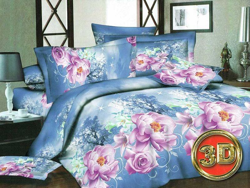 Комплект белья МарТекс Розалина, 2-спальный, наволочки 70х70S03301004Комплект постельного белья МарТекс Розалина, выполненный из микрополиэстера, состоит из пододеяльника, простыни и двух наволочек. Изделия оформлены оригинальным рисунком. Такой комплект подойдет для любого стилевого и цветового решения интерьера, а также создаст в доме уют. Приобретая комплект постельного белья МарТекс, вы можете быть уверенны в том, что покупка доставит вам и вашим близким удовольствие и подарит максимальный комфорт.