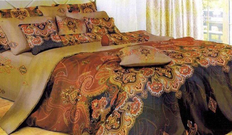 Комплект белья МарТекс, евро, наволочки 50х70, 70х70. 01-1122-3Д Дачно-Деревенский 20Комплект постельного белья МарТекс, выполненный из микрополиэстера, состоит из пододеяльника, простыни и четырех наволочек. Изделия оформлены оригинальным принтом. Пододеяльник на молнии.Такой комплект подойдет для любого стилевого и цветового решения интерьера, а также создаст в доме уют.