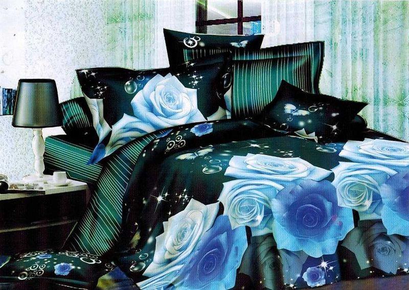 Комплект белья МарТекс, 1,5-спальный, наволочки 70х70. 01-1129-1SVC-300Комплект постельного белья МарТекс, выполненный из микрополиэстера, состоит из пододеяльника, простыни и двух наволочек. Постельное белье обладает яркими, сочными цветами. Изделия оформлены оригинальным рисунком.Такой комплект подойдет для любого стилевого и цветового решения интерьера, а также создаст в доме уют.