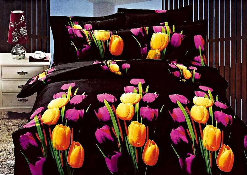 Комплект белья МарТекс, 1,5-спальный, наволочки 70х70. 01-1135-1391602Комплект постельного белья МарТекс, выполненный из микрополиэстера, состоит из пододеяльника, простыни и двух наволочек. Постельное белье обладает яркими, сочными цветами. Изделия оформлены оригинальным принтом.Такой комплект подойдет для любого стилевого и цветового решения интерьера, а также создаст в доме уют.