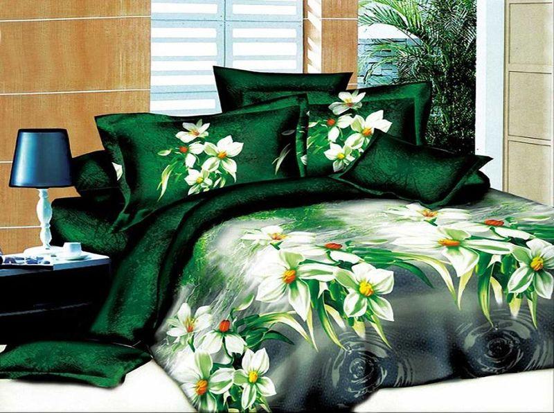 Комплект белья МарТекс, 1,5-спальный, наволочки 70х70. 01-1157-1CLP446Комплект постельного белья МарТекс, выполненный из микрополиэстера, состоит из пододеяльника, простыни и двух наволочек. Постельное белье обладает яркими, сочными цветами. Изделия оформлены оригинальным принтом.Такой комплект подойдет для любого стилевого и цветового решения интерьера, а также создаст в доме уют.