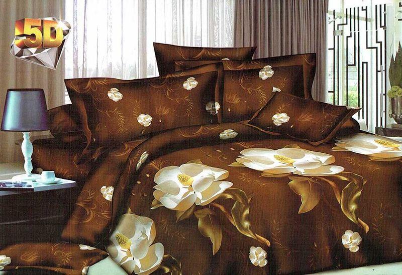 Комплект белья МарТекс Дроми, евро, наволочки 50х70, 70х706221CКомплект постельного белья МарТекс Дроми, выполненный из микрополиэстера, состоит из пододеяльника, простыни и четырех наволочек. Изделия оформлены оригинальным рисунком. Такой комплект подойдет для любого стилевого и цветового решения интерьера, а также создаст в доме уют. Приобретая комплект постельного белья МарТекс, вы можете быть уверенны в том, что покупкадоставит вам и вашим близким удовольствие и подарит максимальный комфорт.