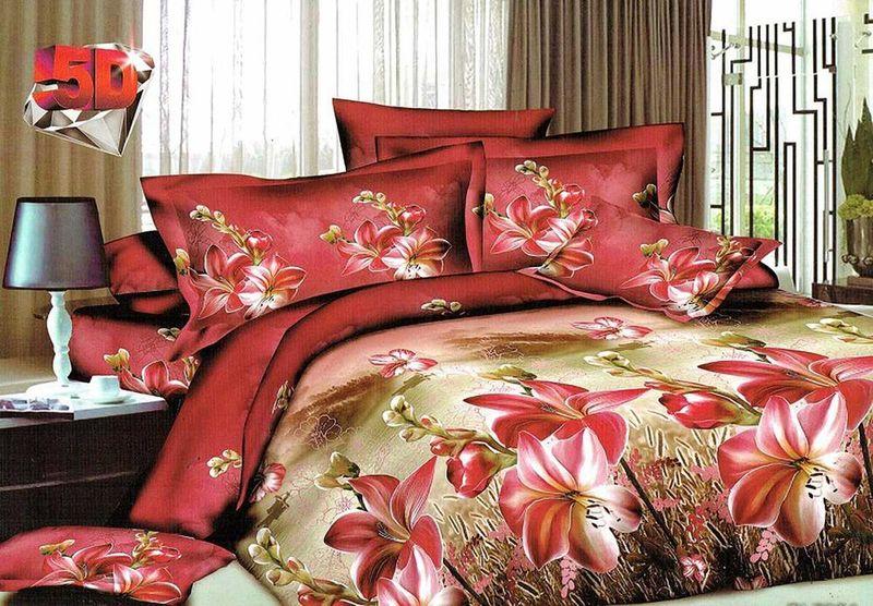 Комплект белья МарТекс Кариф, евро, наволочки 50х70, 70х7001-1185-3Комплект постельного белья МарТекс Кариф, выполненный из микрополиэстера, состоит из пододеяльника, простыни и четырех наволочек. Изделия оформлены оригинальным рисунком. Такой комплект подойдет для любого стилевого и цветового решения интерьера, а также создаст в доме уют. Приобретая комплект постельного белья МарТекс, вы можете быть уверенны в том, что покупкадоставит вам и вашим близким удовольствие и подарит максимальный комфорт.