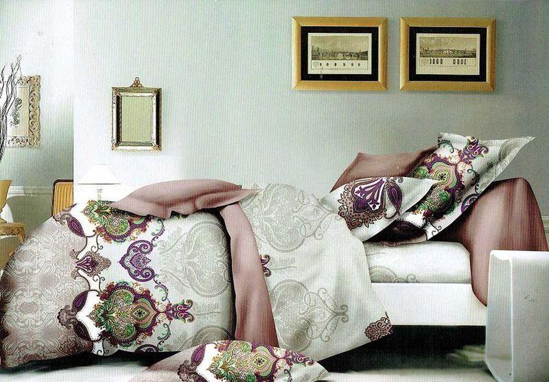 Комплект белья МарТекс Сулуу, 2-спальный, наволочки 70х7001-1380-1Комплект постельного белья МарТекс Сулуу, выполненный из микрополиэстера, состоит из пододеяльника, простыни и двух наволочек. Изделия оформлены оригинальным рисунком. Такой комплект подойдет для любого стилевого и цветового решения интерьера, а также создаст в доме уют. Приобретая комплект постельного белья МарТекс, вы можете быть уверенны в том, что покупка доставит вам и вашим близким удовольствие и подарит максимальный комфорт.