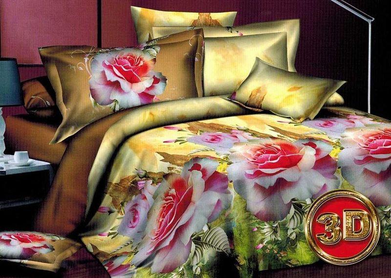 Комплект белья МарТекс Алиса, 1,5-спальный, наволочки 70х70FD-59Комплект постельного белья МарТекс Алиса, выполненный из микрополиэстера, состоит из пододеяльника, простыни и двух наволочек. Изделия оформлены изящным рисунком.Такой комплект подойдет для любого стилевого и цветового решения интерьера, а также создаст в доме уют.