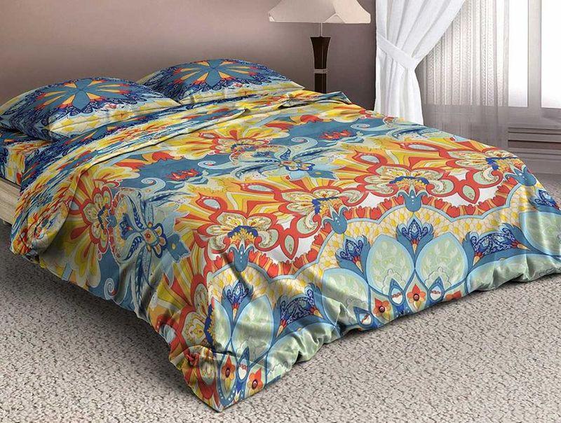 Комплект белья МарТекс Арсин, 1,5-спальный, наволочки 70х70Д Дачно-Деревенский 20Комплект постельного белья МарТекс Арсин, выполненный из микрополиэстера, состоит из пододеяльника, простыни и двух наволочек. Изделия оформлены оригинальным принтом.Такой комплект подойдет для любого стилевого и цветового решения интерьера, а также создаст в доме уют.