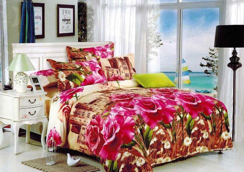 Комплект белья МарТекс Донна, 1,5-спальный, наволочки 70х70391602Комплект постельного белья МарТекс Донна, выполненный из микрополиэстера, состоит из пододеяльника, простыни и двух наволочек. Изделия оформлены оригинальным рисунком. Такой комплект подойдет для любого стилевого и цветового решения интерьера, а также создаст в доме уют. Приобретая комплект постельного белья МарТекс, вы можете быть уверенны в том, что покупка доставит вам и вашим близким удовольствие и подарит максимальный комфорт.