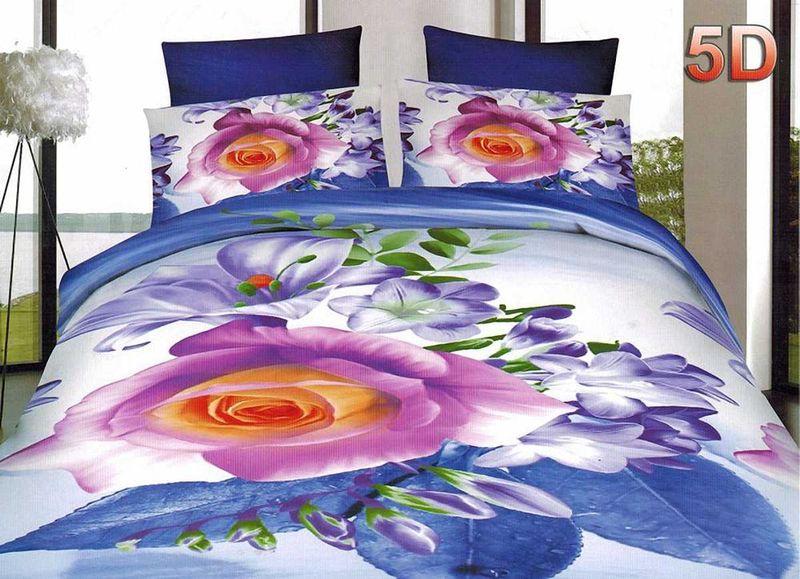 Комплект белья МарТекс, 1,5-спальный, наволочки 70х70. 01-1453-1U210DFКомплект постельного белья МарТекс, выполненный из микрополиэстера, состоит из пододеяльника, простыни и двух наволочек. Изделия оформлены оригинальным цветочным принтом.Такой комплект подойдет для любого стилевого и цветового решения интерьера, а также создаст в доме уют.