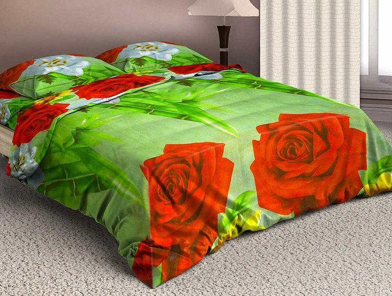 Комплект белья МарТекс, 1,5-спальный, наволочки 50х70. 01-1577-101-0485-1Комплект постельного белья МарТекс, выполненный из микрополиэстера, состоит из пододеяльника, простыни и двух наволочек. Постельное белье обладает яркими, сочными цветами. Изделия оформлены оригинальным принтом.Такой комплект подойдет для любого стилевого и цветового решения интерьера, а также создаст в доме уют.