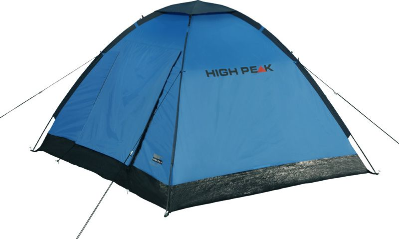 Палатка High Peak Beaver 3, цвет: синий, серый, 200 х 180 х 120 см. 1016710167Просторная палатка High Peak Beaver 3 оснащена тентом-козырьком над входом. Палатка почти квадратная по периметру (200 х 180 см). Фиберглассовые дуги продеваются через рукава на внешнем тенте, и палатка устанавливается за считанные минуты даже в дождь. Материал тента имеет полиуретановое покрытие и водонепроницаемость не менее 1500 мм водяного столба. Швы проклеены. Это позволяет защититься от ветра и дождя. Вентиляционное окно расположено в верхней точке купола палатки и защищено тканевым грибом. Палатка имеет 4 оттяжки, что позволяет надежно ее фиксировать во время ветреной погоды. Вход в палатку защищает тканевый полог, а если погода жаркая, то можно оставить только москитную сетку на входе. Рекомендуем использовать эту палатку в летнее время для походов выходного дня.Дуги: фибергласс 7,9 мм/Сталь 16 мм.Тент: полиэстер 190Т 1500 мм, швы проклеены.Дно: армированный полиэтилен (3000 мм).