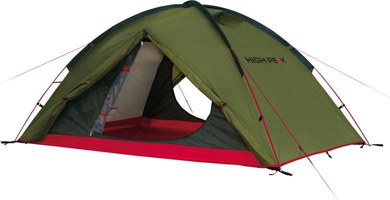 Палатка High Peak Woodpecker 3, цвет: зеленый, красный, 340 х 190 х 220 см. 1019410194Палатка High Peak Woodpecker 3 отлично подойдет для трекинга и для отдыха небольшой семьей. Внешний каркас выполнен из стеклопластика. Палатка имеет два входа. Длина спального места 220 см, ширина 180 см позволяют комфортно разместиться внутри трем человекам. На входе во внутреннюю палатку окна с москитной сеткой. Имеется держатель для фонарика, три внутренних кармана. В комплекте идет прочный компрессионный мешок, который позволяет максимально компактно упаковать палатку для транспортировки.Дуги: фибергласс 7,9/11 мм.Тент: полиэстер 190Т 3000 мм.Дно: полиэстер 190Т 3000 мм.