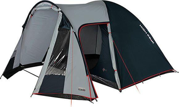 Палатка High Peak Tessin 4, цвет: светло-серый, темно-серый, 360 х 240 х 170 см. 1022110221Палатка High Peak Tessin 4 - хит продаж в сегменте палаток для кемпинга. Просторная спальня площадью 5,2 м2 позволяет комфортно разместить четверых отдыхающих или семью из двоих взрослых и троих детей. В большом тамбуре можно сделать кухню со столиком и несколькими стульями. В тамбур ведут торцевой и боковой вход. В торце тамбура два больших окна. По периметру тамбура пришита юбка для защиты от ветра, дождя и комаров. При полностью закрытых пологах входов проветривание палатки осуществляется с помощью трех вентиляционных окон. Два окна расположены со стороны тамбура и одно со стороны спальни. Ветроустойчивость палатки осуществляется при помощи фиксации семи оттяжек. Материал тента имеет полиуретановое покрытие и водонепроницаемость не менее 3000 мм водяного столба. Это позволяет защититься от сильного ветра и дождя. Все швы проклеены термоусадочной лентой, гарантирующей, что влага не проникнет сквозь них. Дно палатки сделано из прочного армированного полиэтилена. В комплекте идет пять сверхпрочных стальных 5мм колышка, которые не согнуться на твердой поверхности при установки палатки. Во внутренней палатке имеются кармашки для разных мелочей. Внутренняя палатка с системой вентиляции Vario Vent Control System позволяет постоянно наполнять палатку воздухом и равномерно распределять его по палатке.Дуги: фибергласс 9,5 мм.Тент: полиэстер 3000 мм.Дно: Армированный полиэтилен 3000 мм.