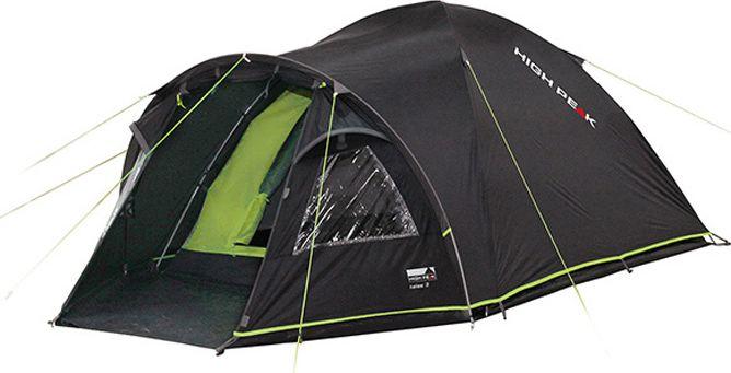 Палатка High Peak Talos 4, цвет: темно-серый, зеленый, 320 х 240 х 130 см. 1151011510Большая комфортная палатка High Peak Talos 4 отлично подойдет для походов с апреля по сентябрь. Ее можно использовать как для трекинга, так и для семейных выездов. Палатка двухслойная, легко устанавливается за 5-7 минут. Сначала устанавливается внутренняя палатка из паропроницаемого материала. Если погода жаркая, и дождя не предвидится, то можно спать без внешнего тента. Вход во внутреннюю палатку можно закрыть тканевым пологом или москитной сеткой. Размер палатки по периметру составляет почти 5.3 кв. м и позволяет четверым отдыхающим с комфортом расположиться на ночлег. Если надо защититься от ветра и дождя, накиньте внешний тент и проденьте третью дугу в рукав тента для формирования тамбура. В тамбуре дно из армированного полиэтилена, на которое можно выложить вещи, не опасаясь их испачкать. Материал тента палатки имеет полиуретановое покрытие и водонепроницаемость не менее 4000 мм водяного столба. Это позволяет защититься от сильного ветра и дождя. Все швы проклеены термоусадочной лентой, гарантирующей, что влага не проникнет сквозь них. При фиксации всех шести оттяжек палатка имеет высокую ветроустойчивость. Оттяжки яркого цвета, чтобы не запутаться в них в сумерках. Окно для лучшей вентиляции находится в верхней точке купола палатки. Во внутренней палатке имеются кармашки для разных мелочей. Внутренняя палатка с системой контроля воздуха Vario Vent Control System.Дуги: фибергласс 8,5 мм.Тент: полиэстер 4000 мм.Дно: армированный полиэтилен 5000 мм.